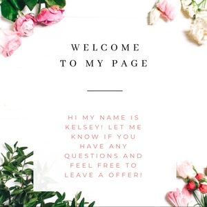Other - WELCOME TO MY PAGE!💕
